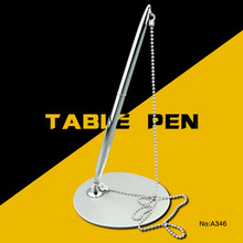 New desk stand pens with chain for office &hotel supplies