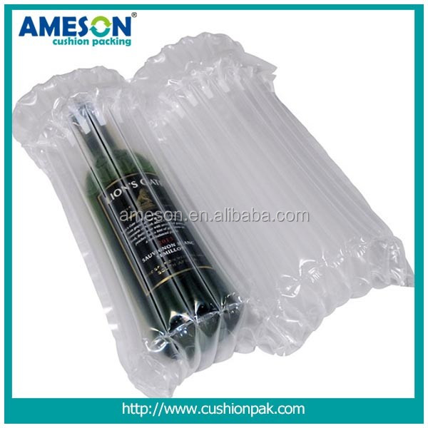 China Wholesale Custom wine bottle air bubble plastic bag