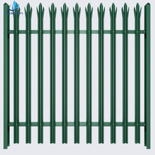 Euro style free standing D/W pale metal palisade security fence,steel palisade fencing design