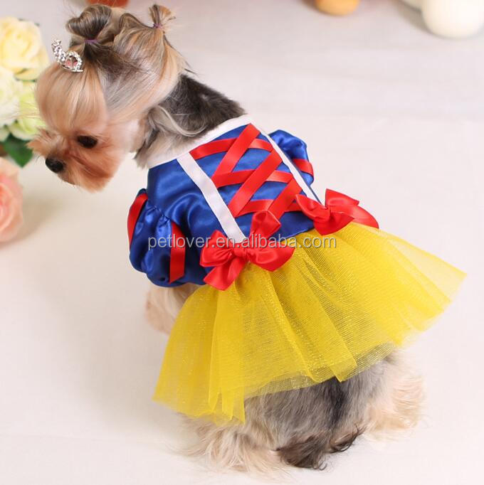 Cosplay snow white Pet Costume Dog Clothes