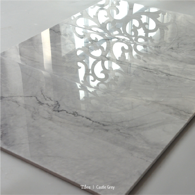 Polished Castle Grey Marble Flooring Tile 12X24