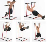 Home Gym Workout Indoor Outdoor Sports Pull Up Bar Dip Rack Push Up Station Horizon Bar