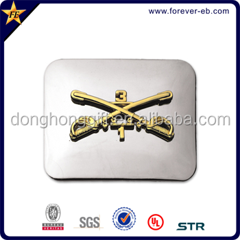 Personalized metal military belt buckles