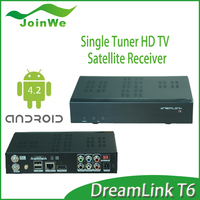 2016 Newest Dreamlink T6 Full HD Satellite Receiver with DL300 Module,XBMC,KODI,IPTV better than Dreamlink T5S,MAG250,MAG254