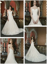 Wedding Dresses For Mature Women From China 2014 Sexy Sweetheart Long Mermaid Tail Lace Church Bridal Gown NB0661