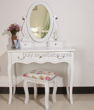 China direct factory supplying high quality white finish MDF wood dressing table with drawer
