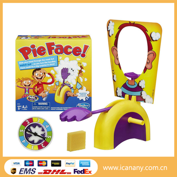 PIE FACE SHOWDOWN Family Game Night Whipped Cream Pie to the Face & Fun Surprise Toys