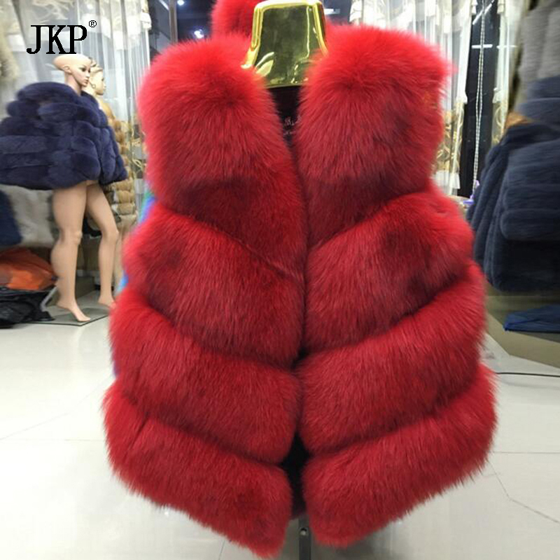 High Quality Jacket Winter Fur Vest Coat Women Fox Fur Vest Short Coats