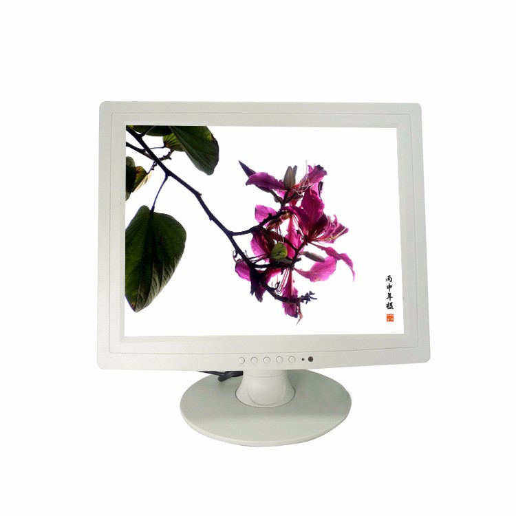 17inch/ 15 Inch/12 inch white plastic case Desk Mount LED Monitor with Cheap price
