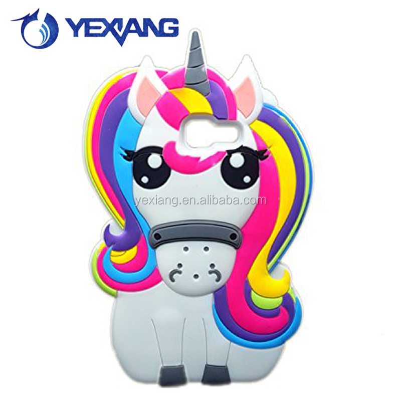 Cute Rainbow Horse Rubber Gel Cover 3D Anime Silicone Phone Case For Samsung Galaxy A3 2016