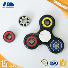 China supplier hand spinner fidget toy with chrome iron bearing 608