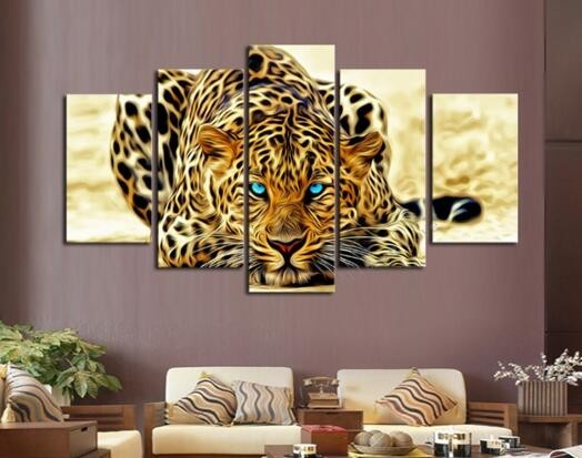 diy diamond painting animal tiger pictures of rhinestones 5pcs set square cross stitch needlework home decorative relative gifts