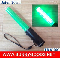 26cm green led traffic baton