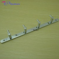 Top grade fashional 304 stainless steel flat metal coat hook