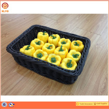 Top quality 100% eco-friendly mushroom display woven baskets wicker storage baskets