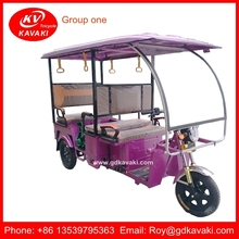 New Model Passenger Solar Power Electric Tricycle For Sale