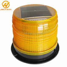 outdoor use barricade solar flashing road hazard warning light
