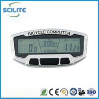 LED mountain bicycle cycle computer speed meter waterproof LCD backlight electric bicycle computer