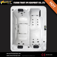 Luxurious hight quality outdoor massage hot tub spa bathtub with big waterfall