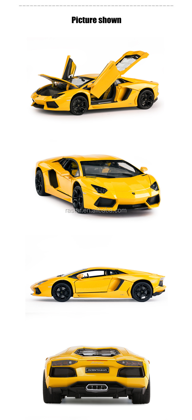 Rastar new products 1:18 scale kids toy die cast model car
