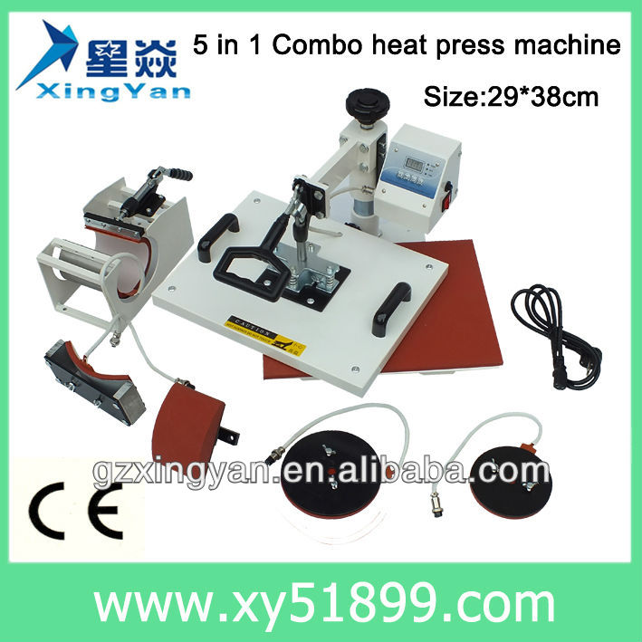 Combo heat transfer machine/multifunction heat press machine/prensas termicas