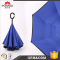 Hot sale Double Layer Windproof and Rain Protection Reverse Folding Umbrella with C-shaped