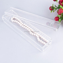 Jewelry dispay acrylic gem display case for necklace display gem box