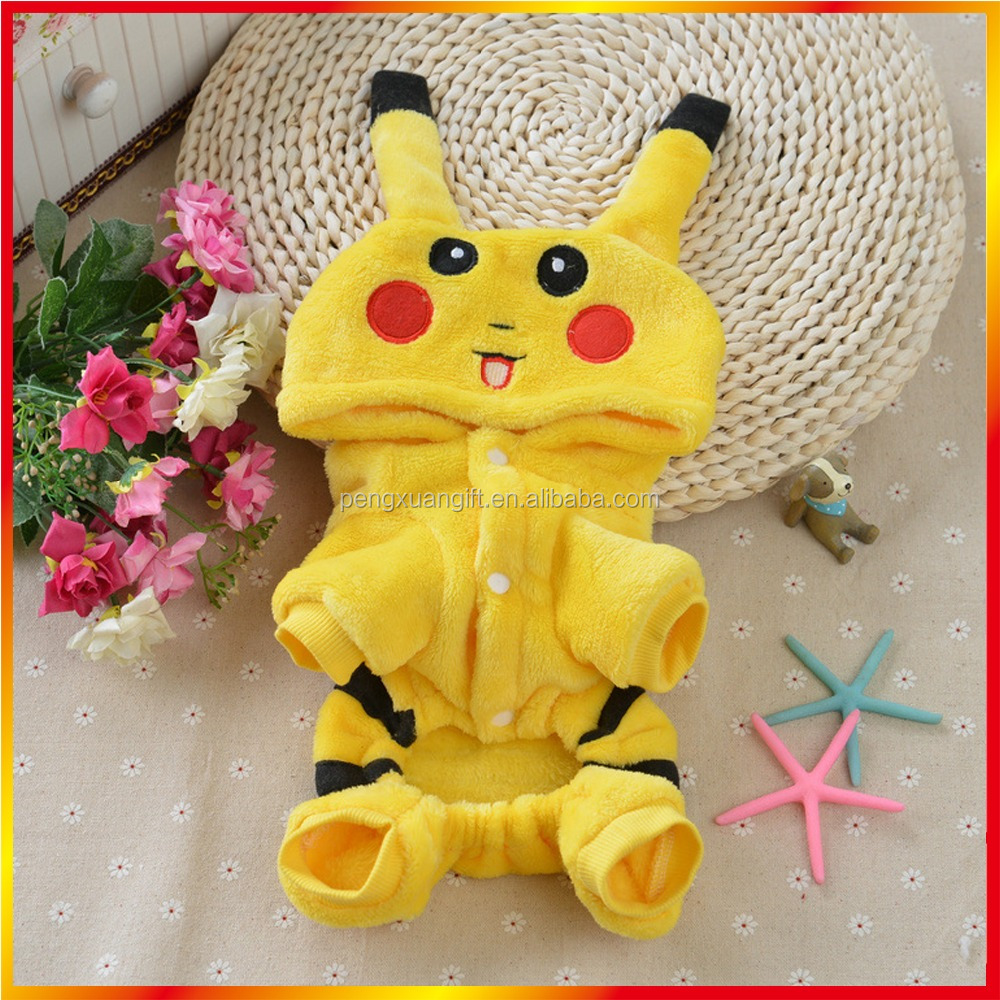 Popular Style Pokemon Clothes For Dog Good Quality Pikachu Dog Clothes Hot Sell Pet Accessories Dog Clothes