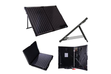 folding solar panel 100w 12v with adjustable solar mounting