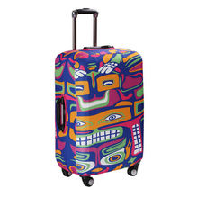 Elastic spandex protective travel bag suitcase cover, sublimation painting print trolley carry on cabin suit case luggage cover