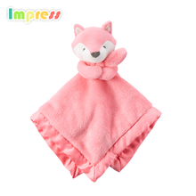 2018 Popular toys for kids plush fox shaped baby educational toys