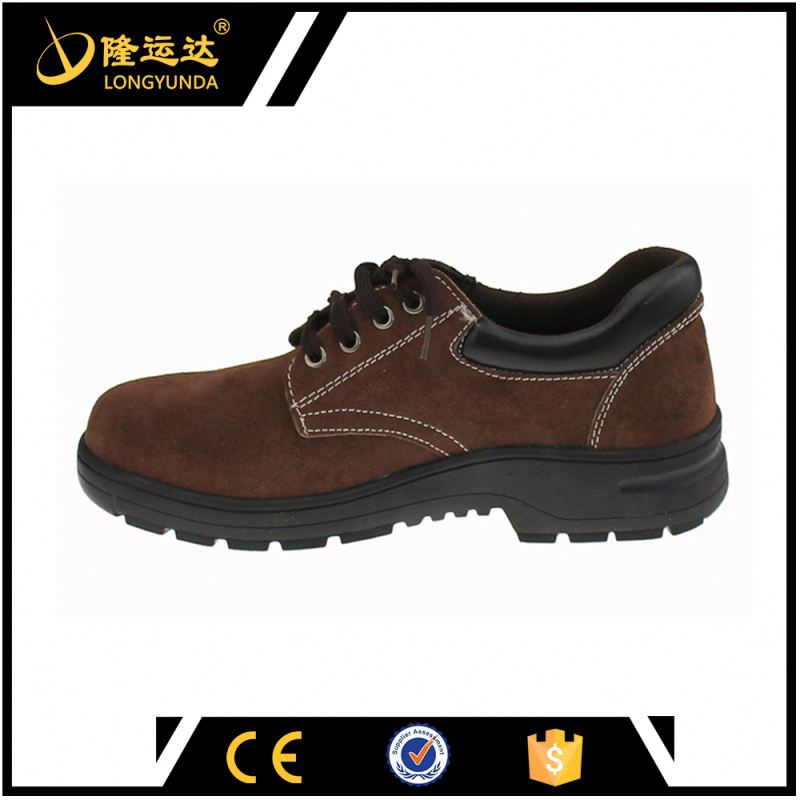 Dark Brown Low Cut Suede Leather Upper Rubber Outsole Action Safety Shoes Products Prices