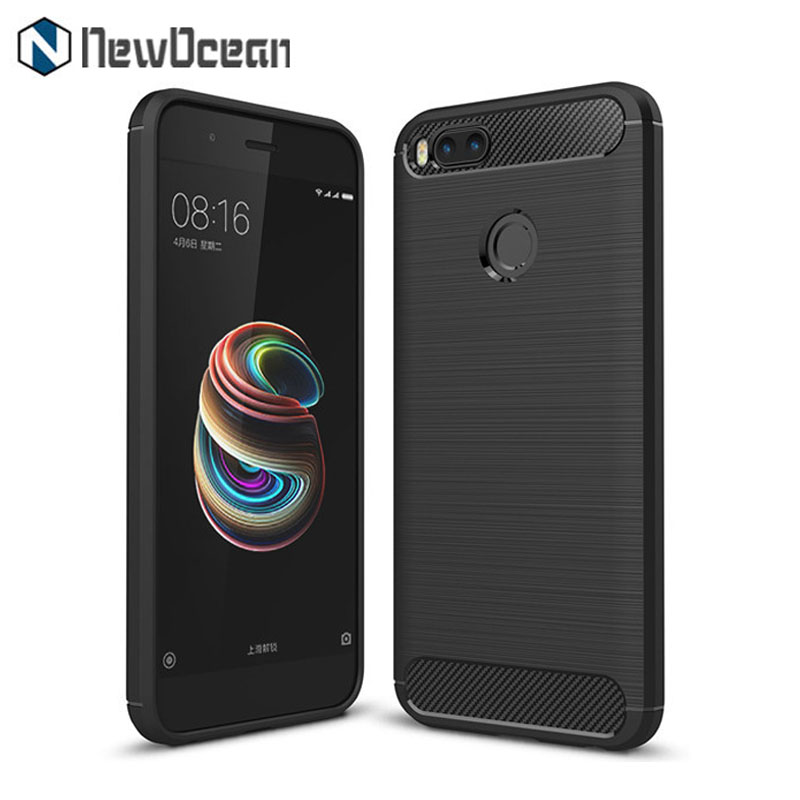 New Arrival For Mi A1 brushed line Carbon fiber cell phone case for Xiaomi Mi 5X