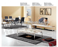 2013 hot sale TV cabinet furniture set is used stone and chrome for living house furniture suite