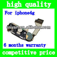 For Apple Iphone 4 Charger Flex cable Assembly w/ Mic Antenna Speaker Repair Part Replacement