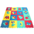 Educational puzzle mat eva foam interlocking floor mats indoors for children to play