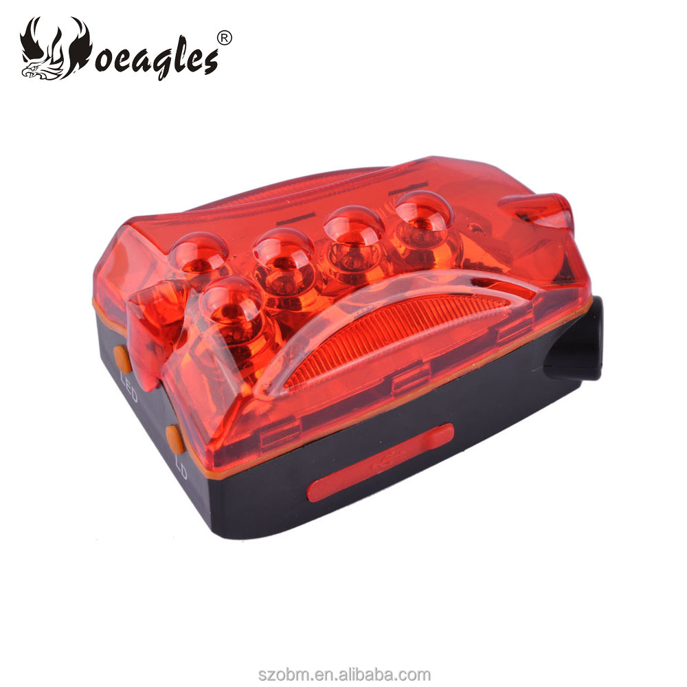 China Wholesale Bicycle Accessroy USB LED Red Laser Bike Rear Light, Rechargeable Bicycle Taillight