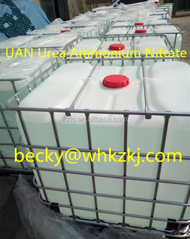 UAN 28% 30% 32% N Solution Urea Ammonium Nitrate Water-Soluble Liquid Fertilizer