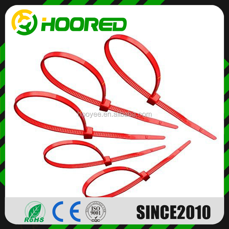 Free sample 8'' zip tie Nylon66 self locking numbered cable tie