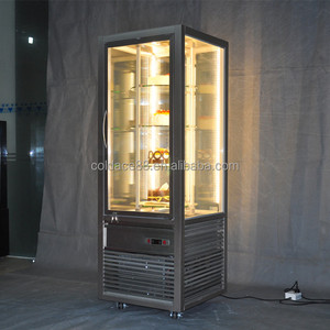 Upright Rotating Cake Display Cooler Refrigerator /Commical Bakery Showcase Cabinet