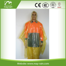 Disposable Rain Poncho for Biodegradable Use