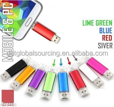 Hot Sale Dual USB 2.0 Connectors OTG 8GB Flash Drive Android Phone
