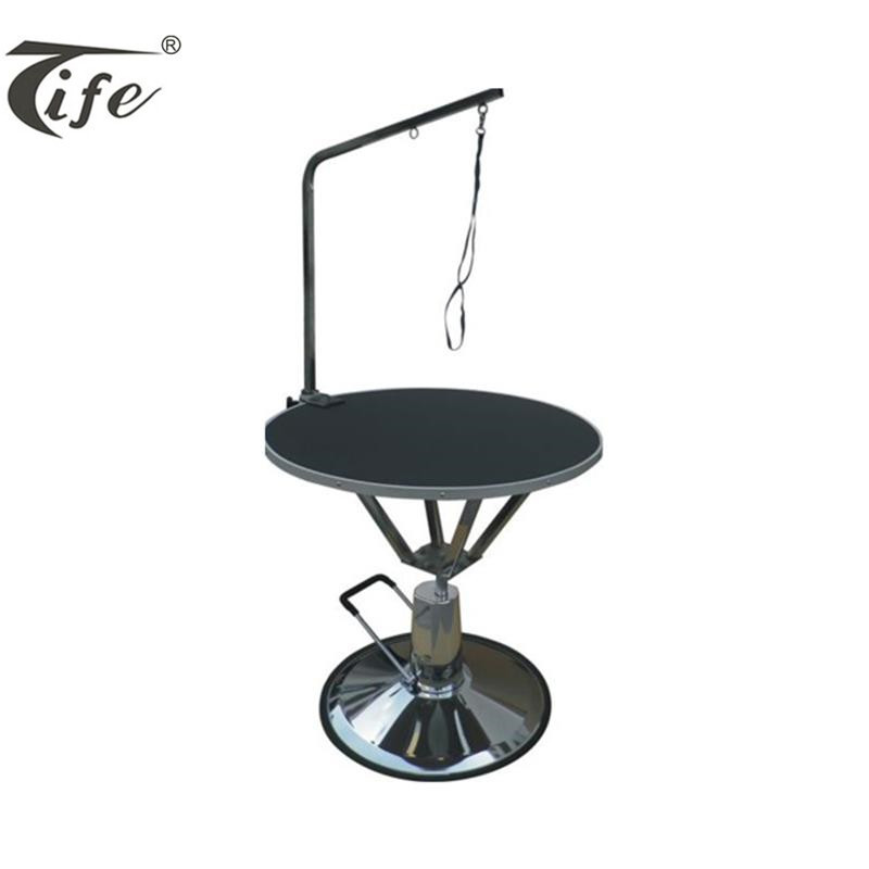 Professional high quality round powerful electric pet dog grooming lift table