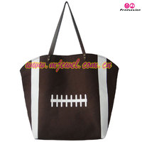 Football print canvas tote bag
