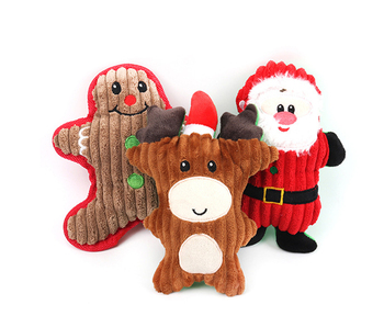 New Christmas Santa Claus Pet Dog Toys Chew Squeaker Pet Plush Toys For Dogs Biting Toys