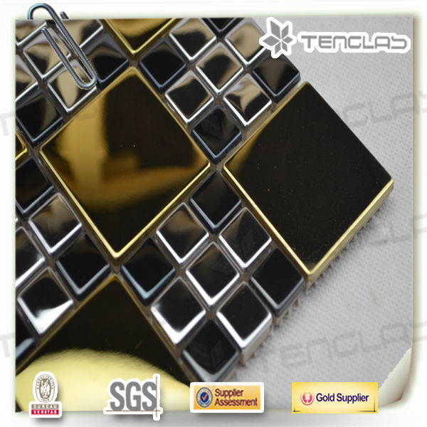 new design blend size stainless steel metal mosaic tiles