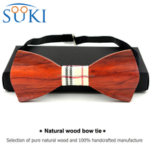 Double Layer Wood Bow Ties 3D Shape wood bowtie for Gentleman SBW1014