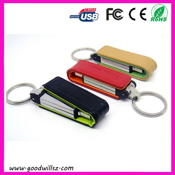 2013 New kind,Leather Key Chain Series USB Flash Drive,USB Memory Stick