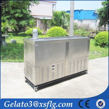 Italian ice showcase refrigerator equipment machine for popsicle