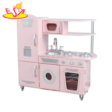 wholesale funny cooking set wooden pretend play kitchen for kids W10C354